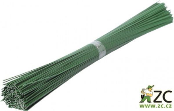 Drát sekaný - zelený 1 kg (1mm/40cm) Popis:Zelený lakovaný drát na aranžování květin a výrobu věnců. Balení obsahuje cca 400 ks drátu délky 40 cm.Rozměry:průměr drátu: 1 mm délka drátu: 40 cm váha: 1 kg Barva:zelená