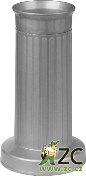 Váza hřbitovní ROVNÁ těžké dno stříbrná Popis:Plastová váza se zátěží v podstavci určená především na hřbitov
