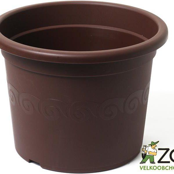 Obal Narcis 28 cm čokoládový Popis:Obal s dezénem. Má náznaky odtokových otvorů