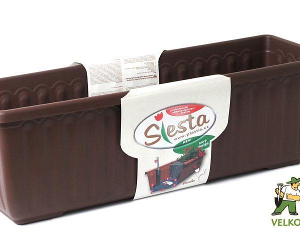 Truhlík samozavlažovací Siesta LUX 100 cm čokoládový Popis:Plastový samozavlažovací truhlík Siesta LUX obsahuje jednu vložku