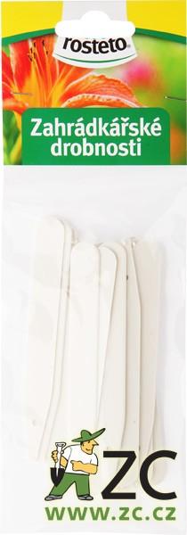 Jmenovka zapichovací Rosteto L4 bílá 10x1