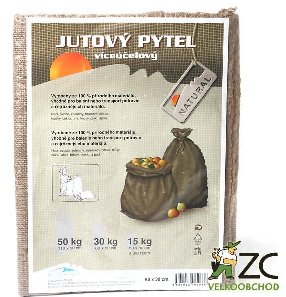 Jutový pytel s úvazkem 15 kg Popis a použití:Své uplatnění nachází v zemědělství