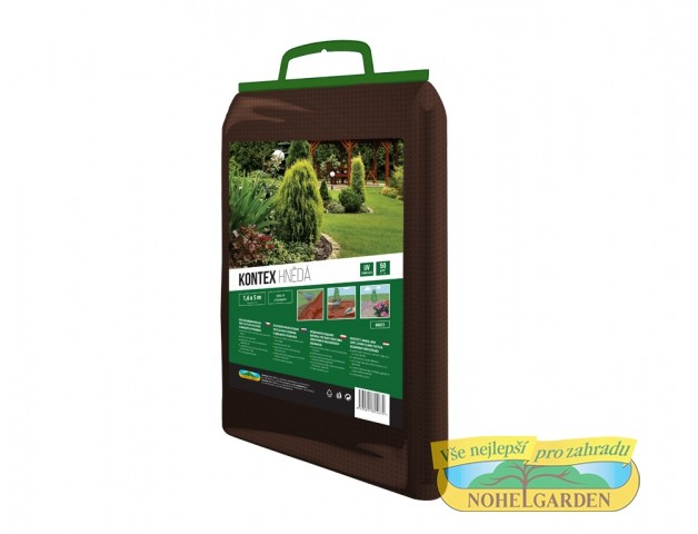 Textilie 1.6x5m hnědá 45g Zesílená netkaná textilie proti plevelům v okrasných výsadbách. Barevně lépe splývá s mulčovanou půdou