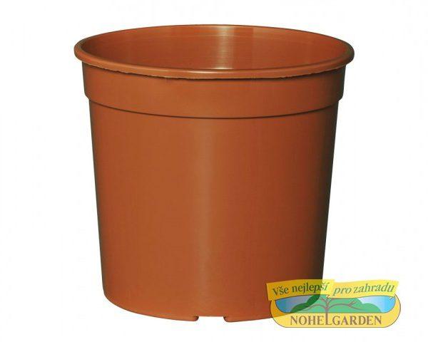 Květináč Eco 13 cm terakota 1 l Kulatý plastový květník. Barva: terakota. Průměr: 13 cm. Objem: 1 l.