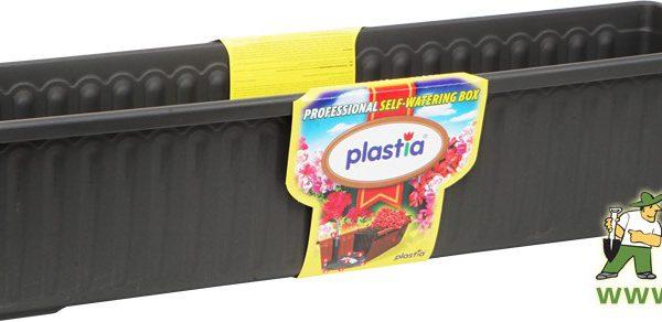 Truhlík samozavlažovací Siesta LUX 100 cm antracit Popis:Plastový samozavlažovací truhlík Siesta LUX obsahuje jednu vložku