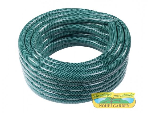 Hadice EKONOMIK 1 20m Hadice s černou vnitřní vrstvou je vyztužena polyesterovým vláknem. Neprůhledné provedení zabraňuje tvorbě řas.Zesílená stěna zaručuje dobré mechanické vlastnosti. Je vhodná k použití na zahradě a v zemědělství. Vnitřní přůměr: 25 mm