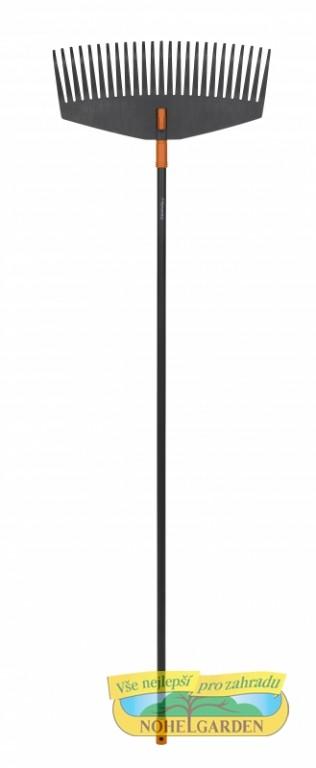 Hrábě na listí Fiskars Solid L /1003465/ Široké hrábě na listí jsou vhodné pro práci na velkých plochách. Mají robustní pružné prsty které jsou speciálně navržené tak