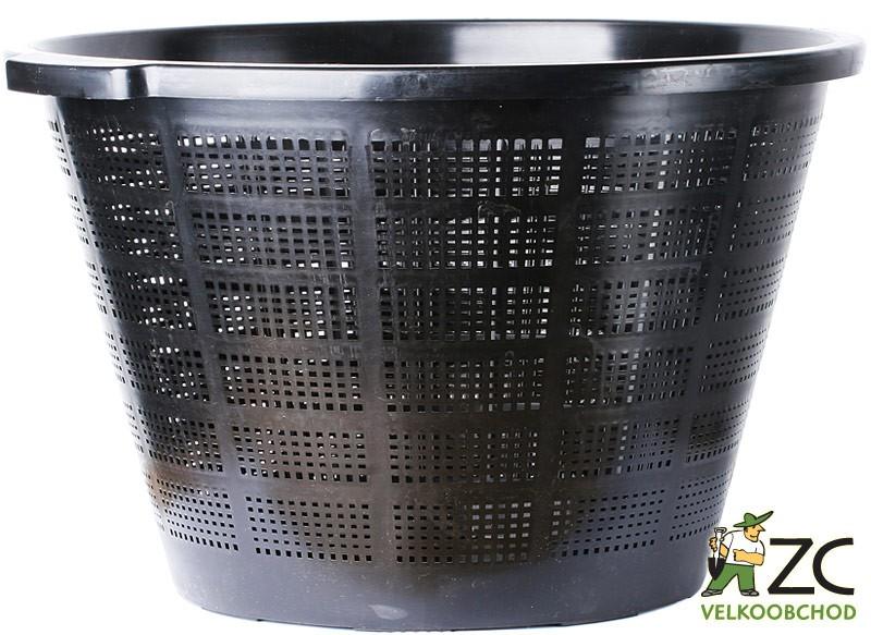 Koš na lekníny - kulatý 40 cm Popis:Koš určený speciálně na lekníny. Je vyroben z vysoce kvalitního plastu odolnému proti hnilobě a neobsahuje recyklované nečistoty