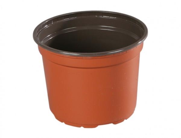 Květináč PREMIUM VCD 11 cm terakota 10 ks 10 kusů plastových lehčených v půdorysu kruhových květníků v barvě terakota. Používají se zejména pro předpěstování rostlin a pro umístění do různých obalů určených pro květníky s rostlinami v interiéru i v exteriéru. Rozměry 1ks: d. 11 x v. 8
