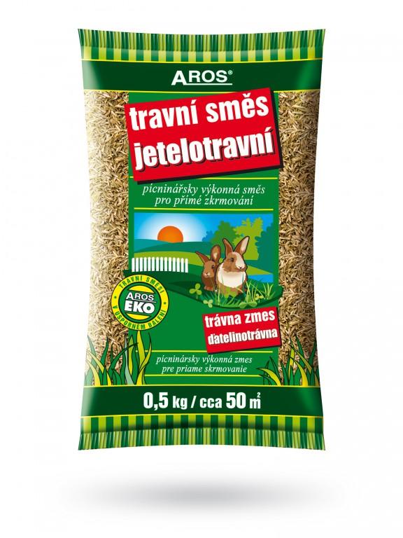 Travní směs Jetelotravní 500 g Aros Pícninářsky výkonná bílkovinoglycidová směs pro intenzivní využití