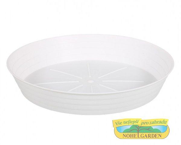 Podmiska PRIMAVERA 24 cm bílá Bílá matná plastová miska pod květináč. Rozměr: d 24 x 4