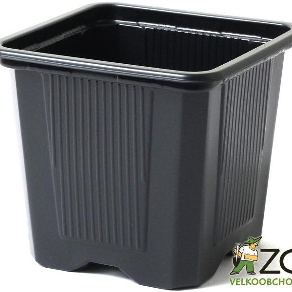Kontejner měkká kvalita 9 x 9 x 8 cm Popis:Hranatý plastový černý kontejner měkké kvality je určený především pro pěstování sazenic rostlin. Měkká kvalita znamená