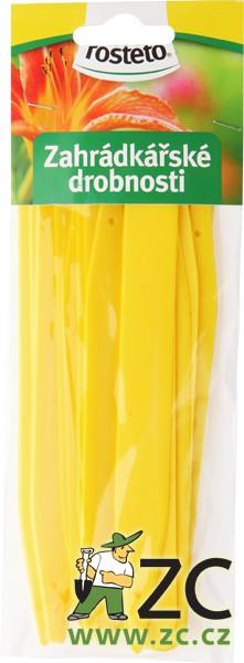 Jmenovka zapichovací Rosteto L6 žlutá 15x1
