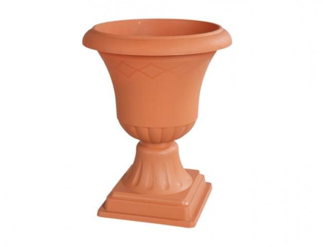 Číše ATENA V 33 cm terakota Plastová číše ve tvaru obráceného zvonu v barvě terakoty v části s vylisovanými pruhy