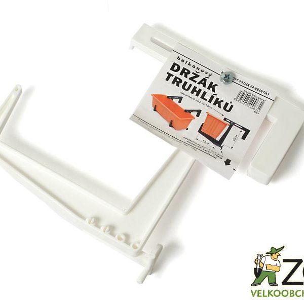 Držák na truhlík balkon stavitelný bílý Popis:Plastový držák na balkon k truhlíku do šířky 13 cm. Nosnost jednoho páru je 20 kg ( truhlík do délky 60 cm ). Držák je vyroben z vysoce kvalitního plastu odolný proti slunečníku záření a mrazu.Materiál:plastBarva:bíláRozměry:šířka úchytu: 2 - 12 cm