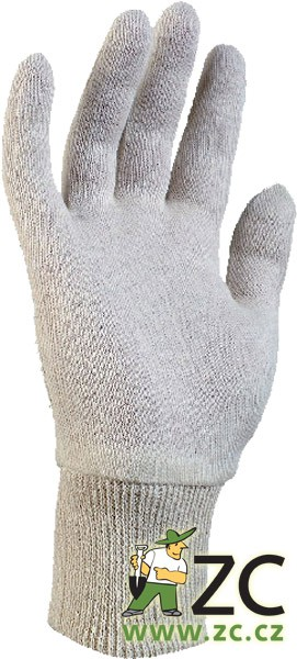 Rukavice textilní s eurozávěsem - Ipo vel.Uni Popis:Ochranné pracovní rukavice kategorie CE 1 z režného bavlněného úpletu