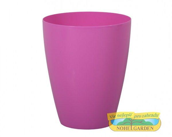 Obal Orchidea Dark 12 cm růžový Lesklý plastový obal s hladkým povrchem na orchideje. Díky zvednutému dnu nebude orchidej položena ve vodě a veškerá přebytečná voda z ní může odkapat. Průměr: 12 cm