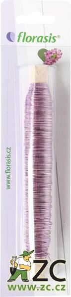 Drát měděný - 100 g světle fialový (0