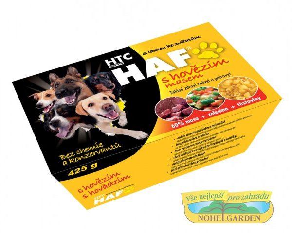 HAF Vanička s hovězím masem 425g Kompletní krmivo pro psy všech plemen a věkových kategorií. Složení: maso