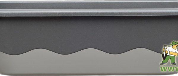 Truhlík samozavlažovací Mareta 80 cm tm.+ sv. antracit Popis:Plastový samozavlažovací truhlík Mareta obsahuje hladinoměr