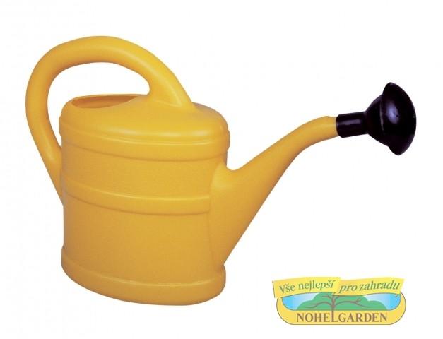 Konvička 1L s kropítkem žlutá Plastová konev pro zalévání pokojových a balkónových květin. S kropítkem. Dodáváme v barvě oranžové