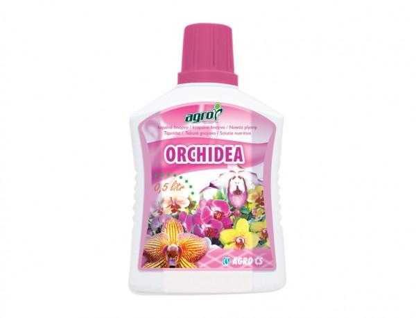 Agro hnojivo na ORCHIDEJE 500ml Složení: dusík - fosfor – draslík: 6 - 5 – 6 Pro přihnojování orchidejí (Cattleya