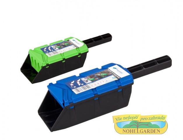 Lopatka na sůl 10x17cm Plastová lopatka k dávkovanému rozmetání travního osiva