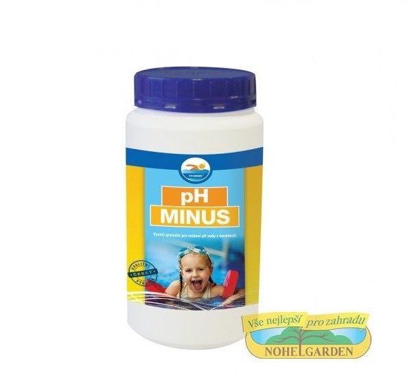 Ph mínus 1.5kg -  pro snížení hodnoty pH Přípravek pro snižování hodnoty pH bazénové vody. Voda ke koupání má mít hodnotu pH v rozmezí 6