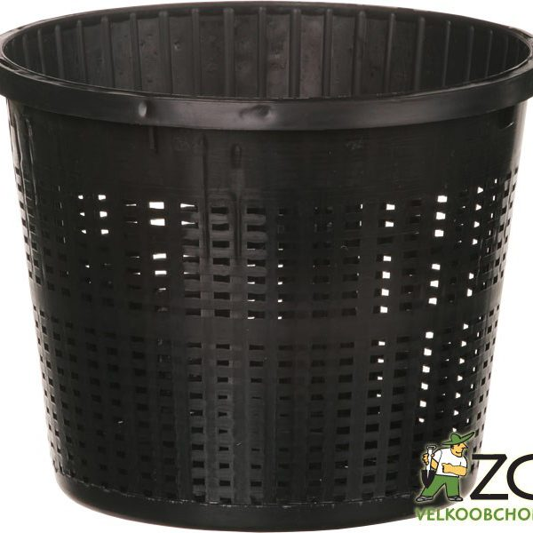 Koš na vodní rostliny - kulatý 13 cm Popis:Koš z pevného plastu vhodný pro vodní rostliny. Zabraňuje jejich rozrůstání. Snižuje zanášení živin do nádrže. Neobsahuje regeneráty