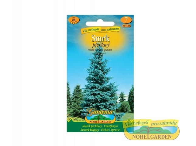 Smrk pichlavý - Picea glauca Počet semen: cca 25 ksJedná se o nejčastěji pěstovaný jehličnatý strom. Dorůstá do výšky až 30 m. Má stříbrné jehlice. Vyžaduje neúrodnou půdu a přímé slunce.