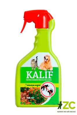 Kalif Pes a Kočka 750 ml Popis a použití:KALIF PSI A KOČKY - netoxický postřik k přímému použití v mechanickém rozprašovači. Vhodné k oknům