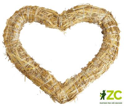 Srdce slaměné 25 cm Popis:Slaměné srdce pro dekorační účely.