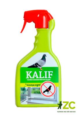 Kalif Holubi a ptáci 750 ml Popis a použití:KALIF HOLUBI A PTÁCI - netoxický postřik k přímému použití v mechanickém rozprašovači