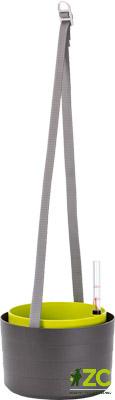 Žardina samozavlažovací Berberis 26 cm antracit + zelená Popis:Elegantní kousek se spoustou vychytávek. S popruhy nebo bez. Vytvořte zelený kout na terase i v obýváku