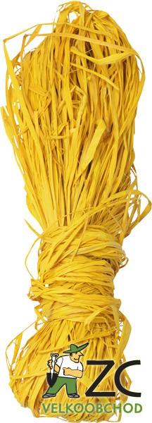 Lýko 50 g - žluté Popis:Barvené lýko určené k dekoraci.Hmotnost:50gBarva:žlutá