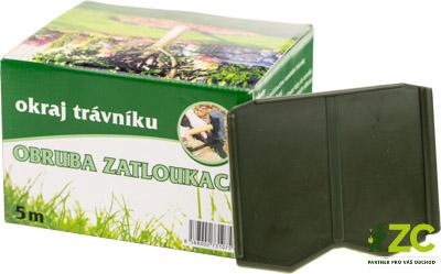 Okraj trávníku zatloukací 5 m - 12 cm zelený Popis:Trávníková obruba jednoznačně definuje okraj trávníku