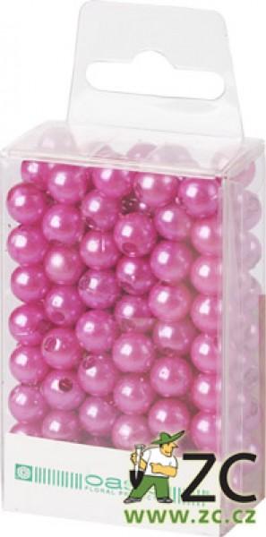 Dekorační perly - 8 mm (144 ks) světle fialové Popis:Dekorační umělohmotné navlékací perly v průhledné plastové krabičce na zavěšení