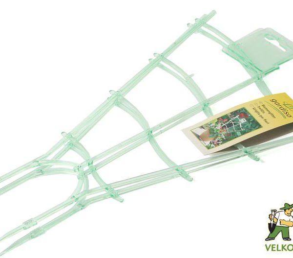 Mřížka zvlněná - 47 cm 2 ks Popis:Podpůrná plastová mřížka k vyvázání květin a rostlin v květináčích. Baleno po 2 ks.Materiál:plastBarva:světle zelená průhlednáRozměry:délka: 47 cm