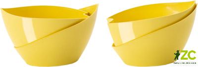 Květináč samozavlažovací Doppio 14 cm žlutý Popis:Originální typ samozavlažovacího květináče