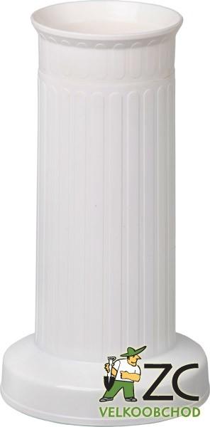 Váza hřbitovní ROVNÁ SLOUP těžké dno bílá Popis:Plastová váza se zátěží v podstavci určená především na hřbitov
