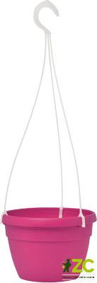 Květináč závěsný Lavaredo 20 cm tmavě růžový Popis:Plastový závěsný květináč s vyvýšenými odtokovými otvory pro udržení zásoby vody (včetně průhledného plastového závěsu).Materiál:plastBarva:tmavě fialováRozměry:průměr: 20 cmvýška: 14