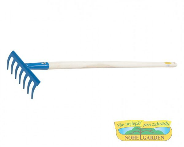 Dětské hrabičky 7 Z - s násadou 75 cm (o d 6 let) Popis:Velmi kvalitní a plně funkční dětské hrabičky - sedm zubů v pestré barvě s dřevěnou násadou.Rozměr:Šířka: 13 cm.Násada:Násada dřevěná: 75 cm.