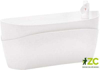 Truhlík samozavlažovací Doppio 38 cm bílý Popis:Originální typ samozavlažovacího truhlíku