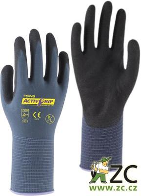 Rukavice AktivGrip Advance (vel.10/XL) Popis:ActivGrip Advance jsou průmyslové rukavice prémiové kvality. Díky bezešvé nylonové podšívce a odolnému dvojitému nitrilovému povrchu jsou vhodné pro práce