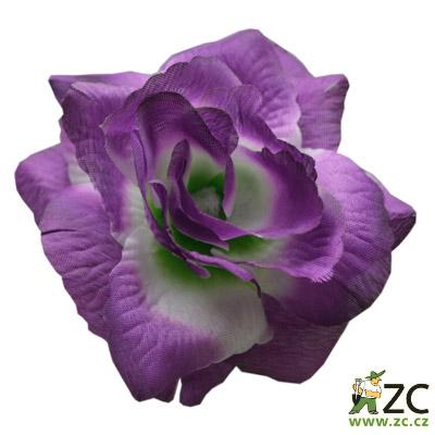 Růže látková fialovo bílá 24 ks Popis:Kvalitní látkové květy na venkovní i vnitřní vazbu pro výrobu smutečních věnců a kytic. Odolné vůči vodě i slunci. Vazbové růže jsou umělé květiny vyrobené z látky