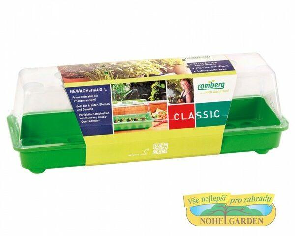Miniskleník L s ventilací 58x19x19cm Minipařeniště poskytuje optimální podmínky pro pěstování rostlin - zeleniny