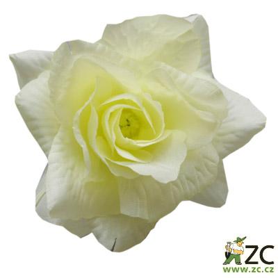 Růže látková žluto bílá 24 ks Popis:Kvalitní látkové květy na venkovní i vnitřní vazbu pro výrobu smutečních věnců a kytic. Odolné vůči vodě i slunci. Vazbové růže jsou umělé květiny vyrobené z látky