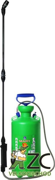 Postřikovač ruční - Mary 10 l Popis:Tlakový ruční postřikovač určený pro malé a střední zahrady. Je vybaven pojistným ventilem chránícím před přetlakováním. Balení obsahuje popruh na rameno pro snadnější přenášení.Teplota postřikové kapaliny: min. 1° - max. 40°.Během postřiku se chraňte vhodným ochranným oděvem.