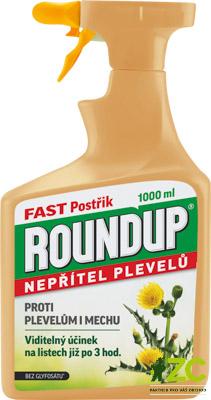 Roundup Fast 1 l rozprašovač Popis:·         totální herbicid = přípravek k hubení mladých