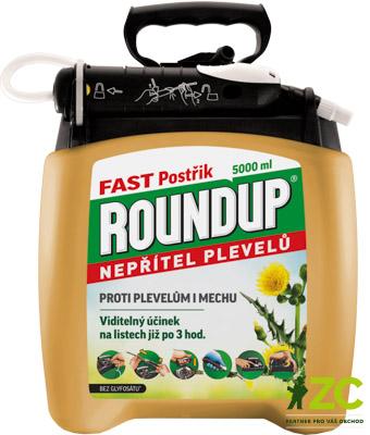 Roundup Fast 5 l rozprašovač Popis:·         totální herbicid = přípravek k hubení mladých